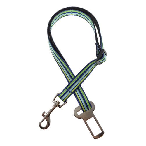 Lime & Blue Stripes Seat Belt (Small)