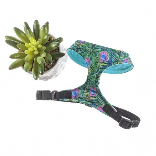 Peacock Feathers Soft Harness Vest (Small)