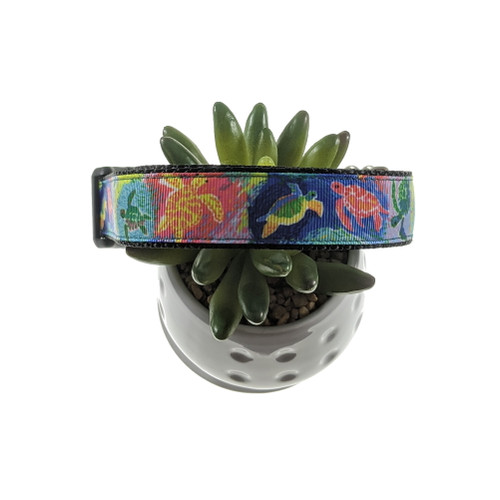 Sea Turtles Lilly Inspired Dog Collar (Large)