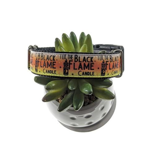 Black Flame Candle dog collar (Medium)