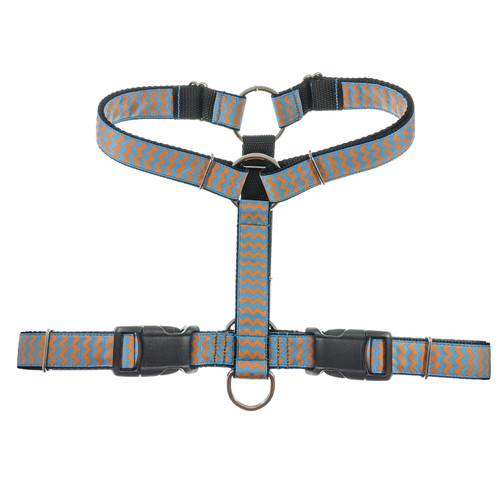 Blue & Orange Chevron SureFit Harness (L)
