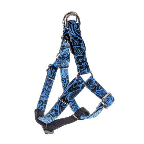 Blue Polynesian Step-In Harness (Small)