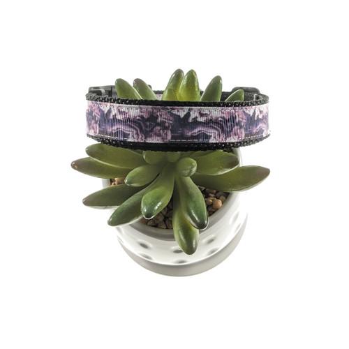 Purple Geode dog collar (Medium)