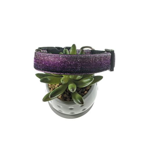 Purple & Silver Ombre Mermaid Dog Collar (Medium)