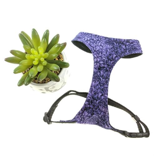 Purple Floral Soft Harness Vest