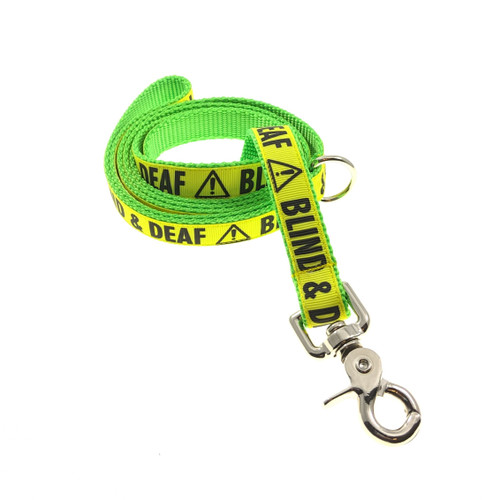 Blind & Deaf on Lime leash