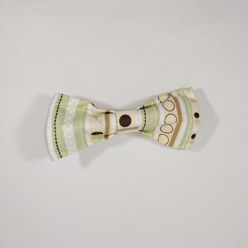 Green Abstract Collar Bow - 5""