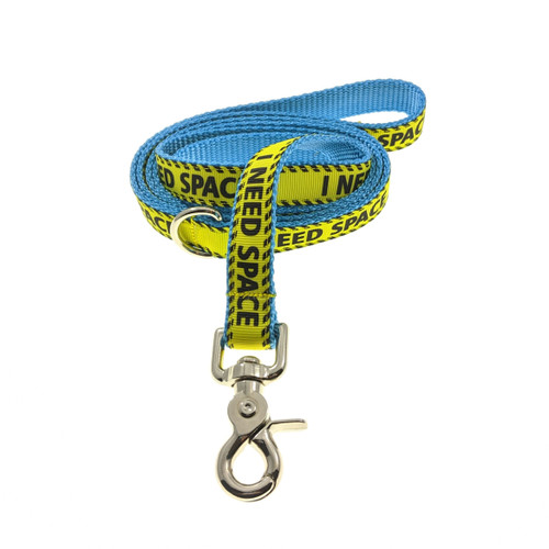 I Need Space on Ice Blue Leash (Medium)