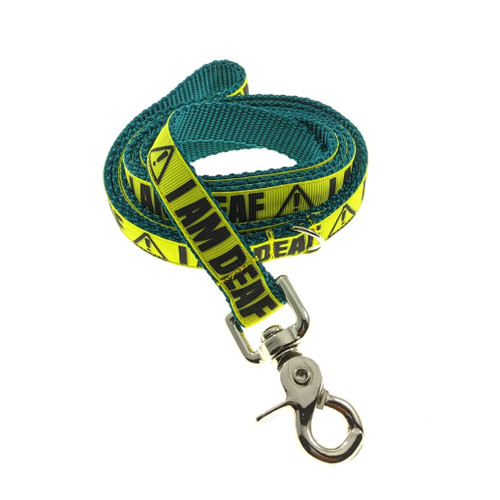 I Am Deaf on Teal Leash (Medium)