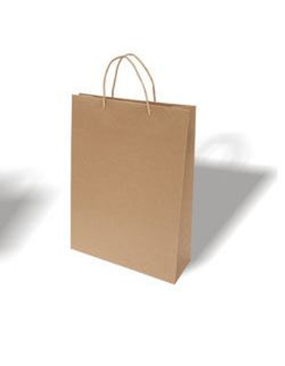Brown Crafty Carry Bags pack of 100