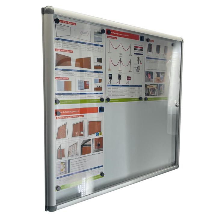 Magnetic Notice Board 6xA4 Indoor Whiteboard