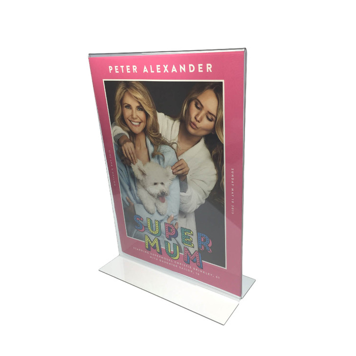 A5 Acrylic Sign Holder Double Sided