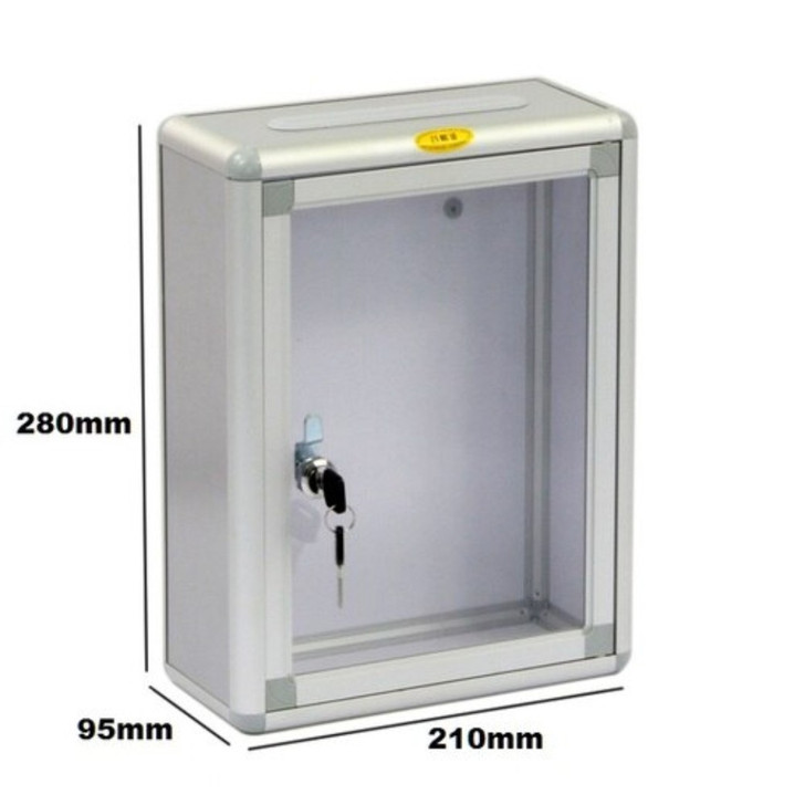 Suggestion box for wall mount