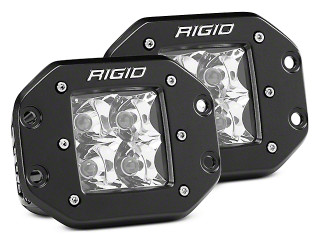 Rigid 212113 D-Series Pro - Flood Pattern - Flush Mount (pair)