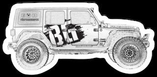 Bodyguard Jeep Sticker