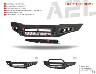 Raptor A2L Baja Front Bumper (Non Winch)