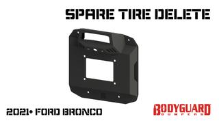 Bronco Spare Tire Delete