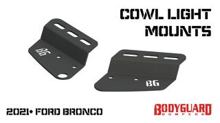 Bronco Cowl Light Mounts