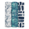 Aden + Anais Silky Soft Bamboo Muslin Swaddle 3 Pack - Seaport