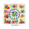 Fun Factory Wooden Children Clock Puzzle