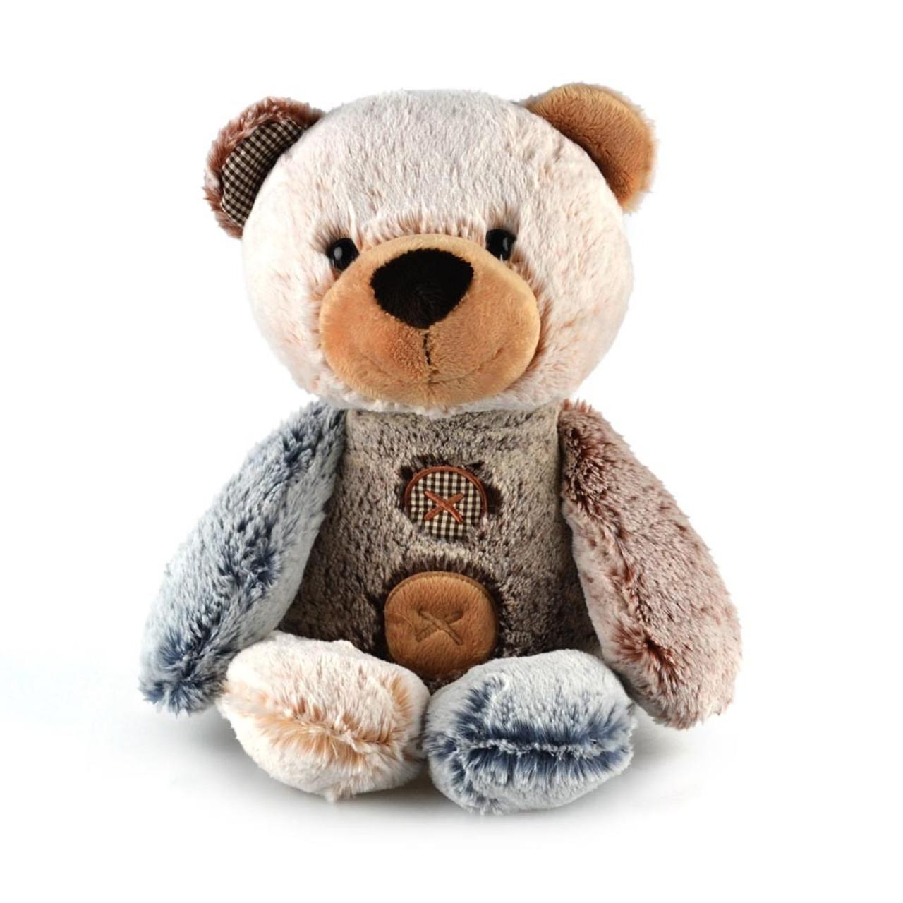Korimco Patches the Bear Soft Plush Teddy Bear Large 40cm - BROWN