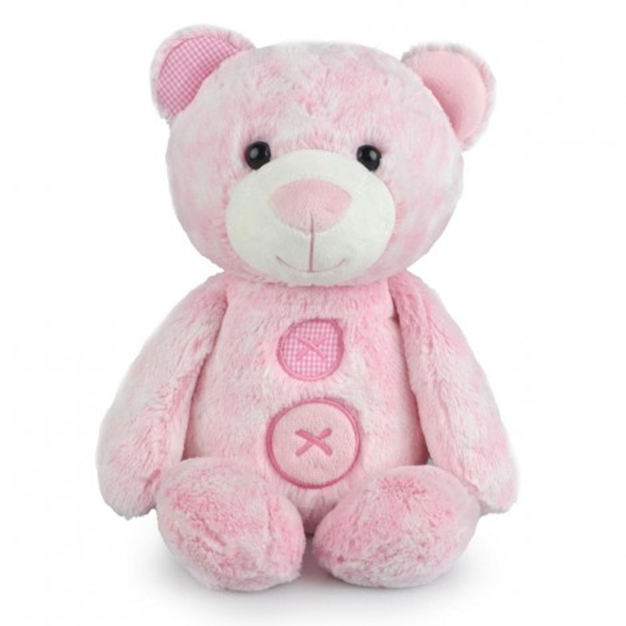Korimco Patches the Bear Soft Plush Teddy Bear Large 40cm - PINK