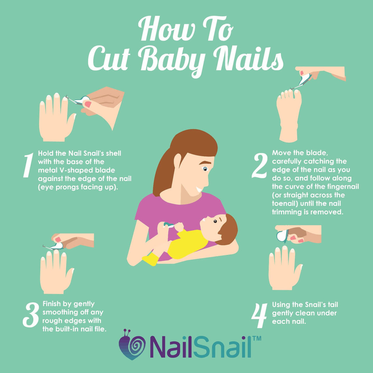 Nail Snail 3-in-1 Baby Nail Trimmer