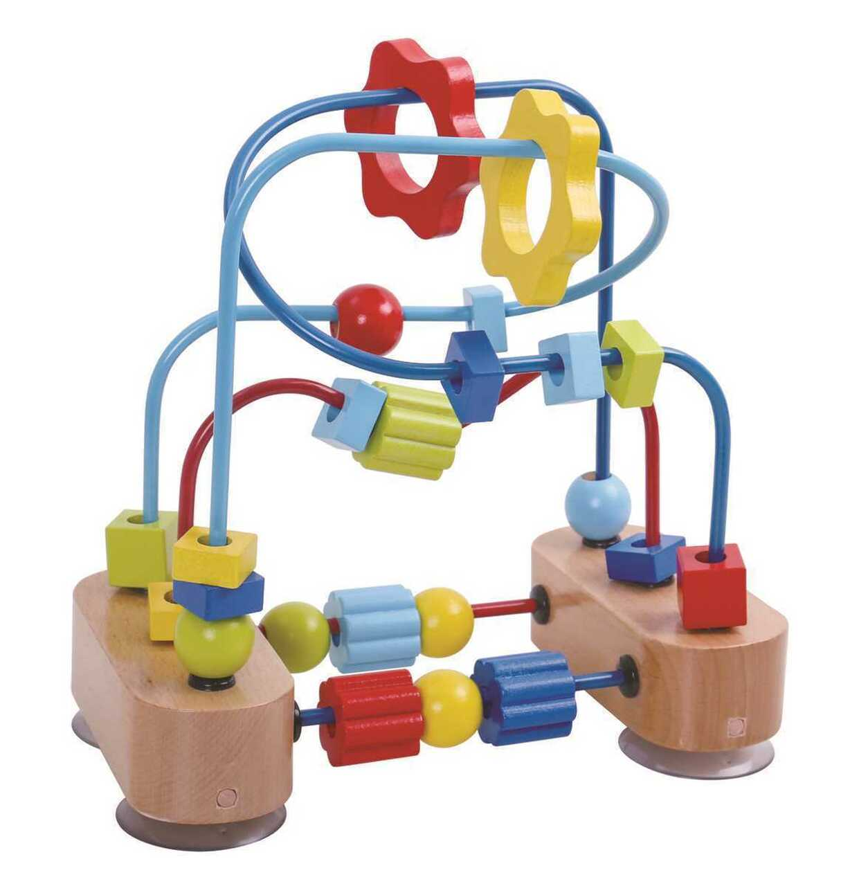 Tooky Toy Wooden Beads Coaster Maze
