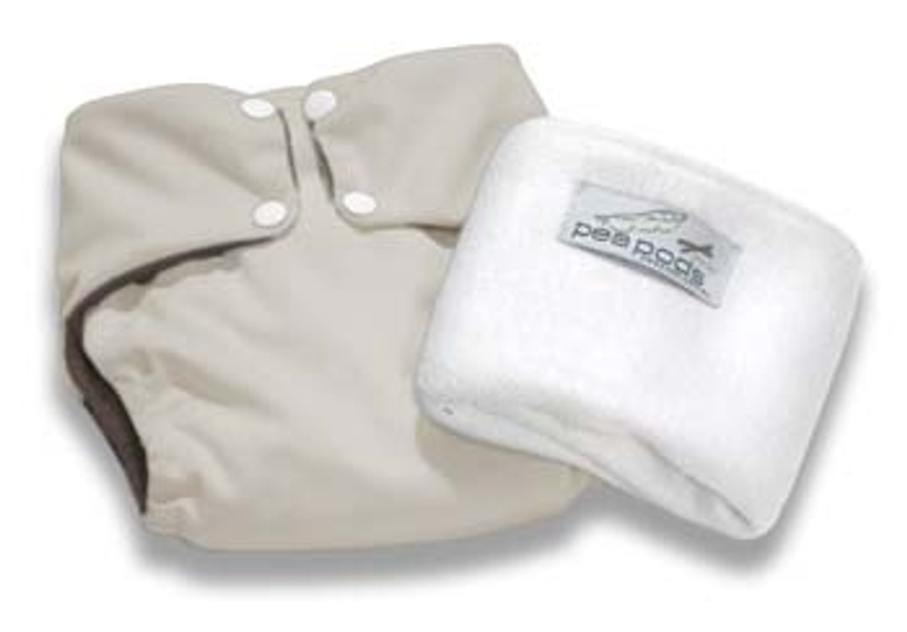 Pea Pods Modern Cloth Nappies One Size Fits Most at Baby Barn - Cream