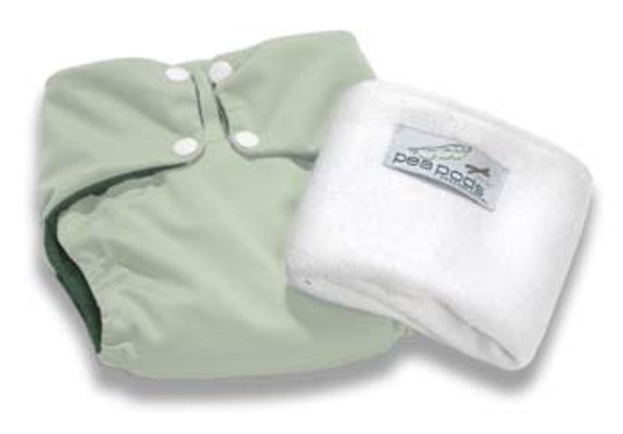 Pea Pods Modern Cloth Nappies One Size Fits Most at Baby Barn - Pastel Green