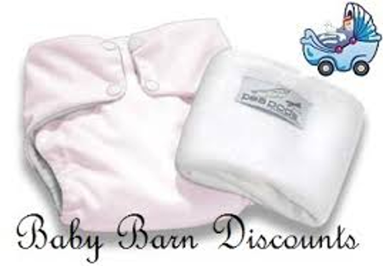 Pea Pods Modern Cloth Nappies One Size Fits Most at Baby Barn - Pastel Pink