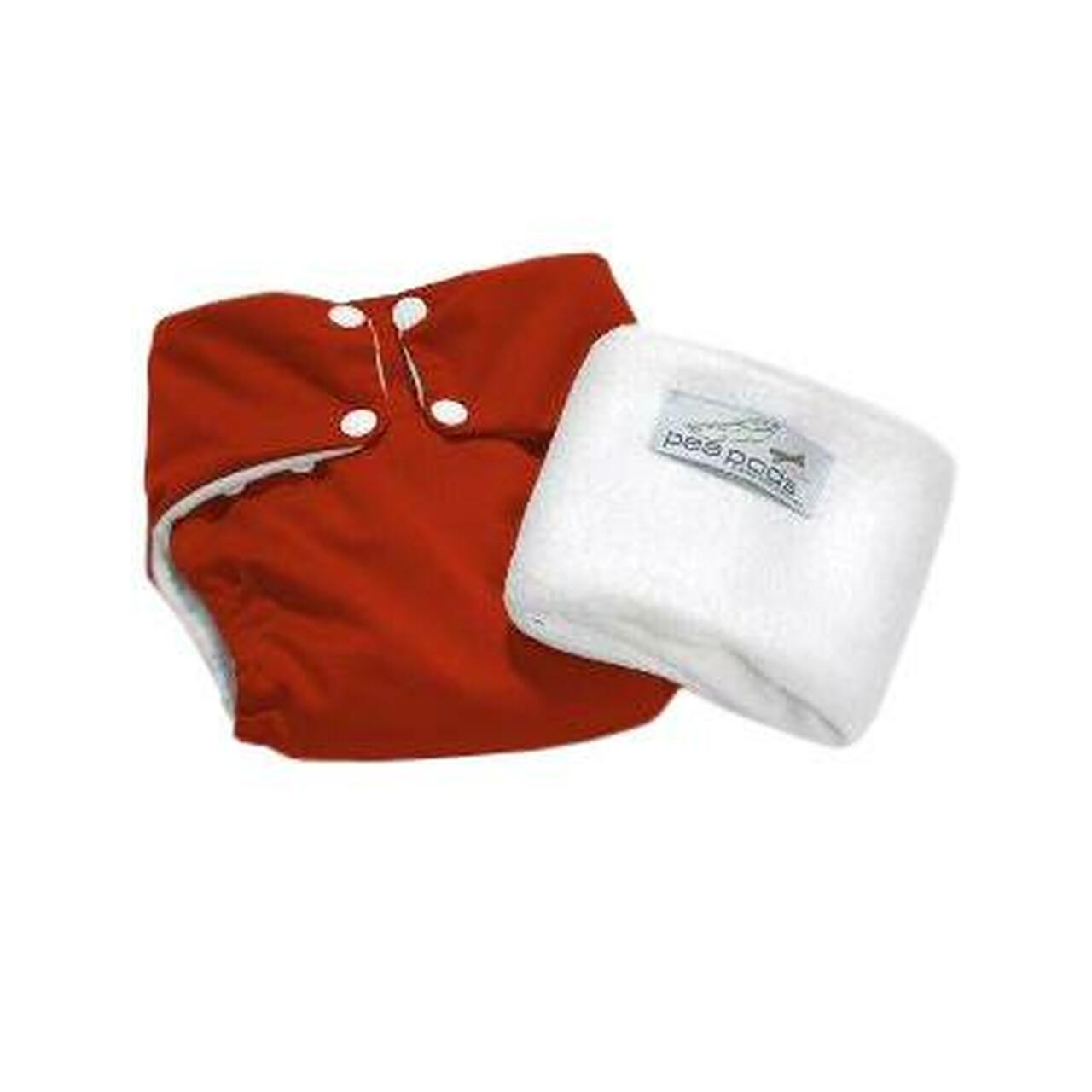 Pea Pods Modern Cloth Nappies One Size Fits Most at Baby Barn - Red