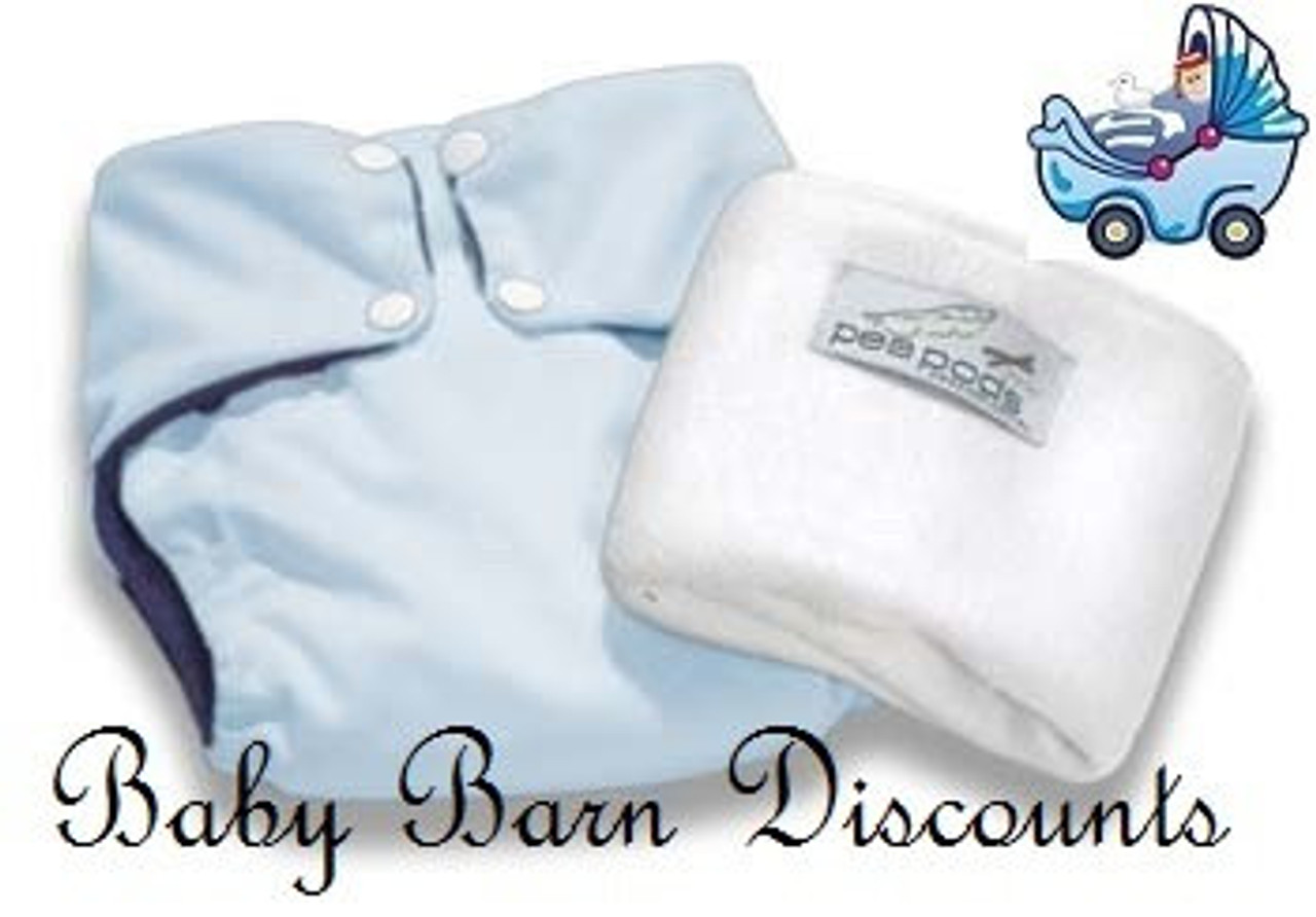 Pea Pods Modern Cloth Nappies One Size Fits Most at Baby Barn - Pastel Blue