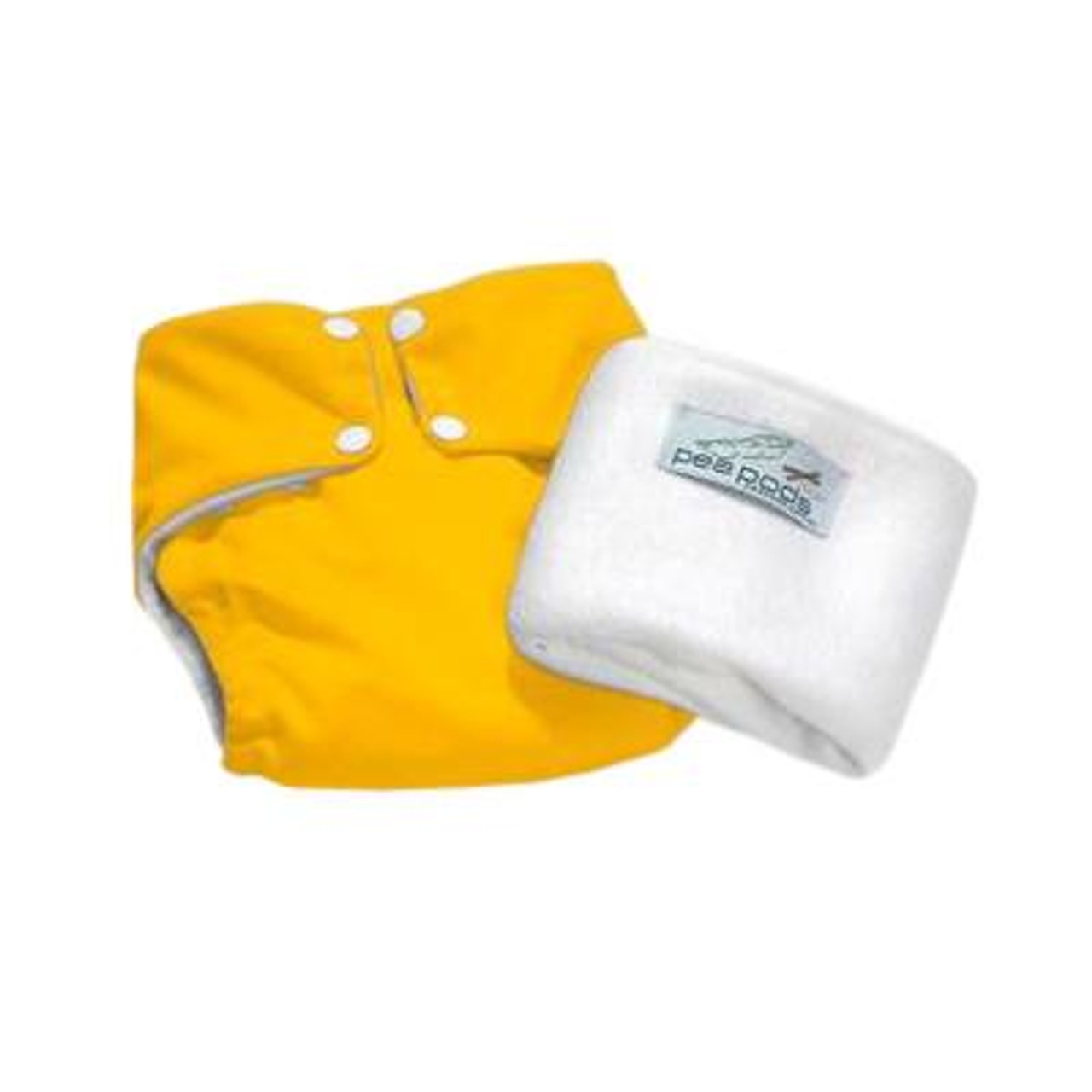 Pea Pods Modern Cloth Nappies One Size Fits Most at Baby Barn - Vibrant Yellow