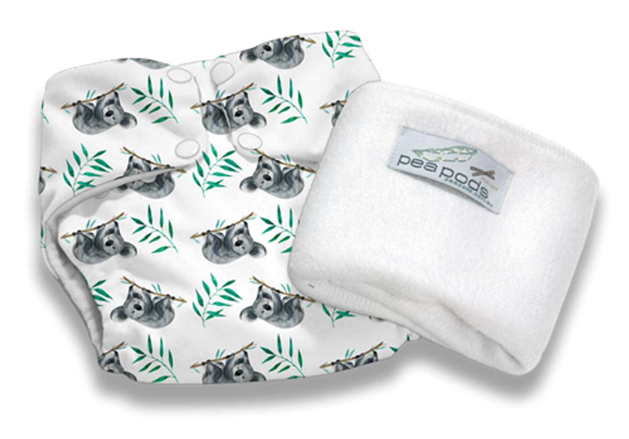 Pea Pods Modern Cloth Nappies One Size Fits Most at Baby Barn - SLEEPY KOALA