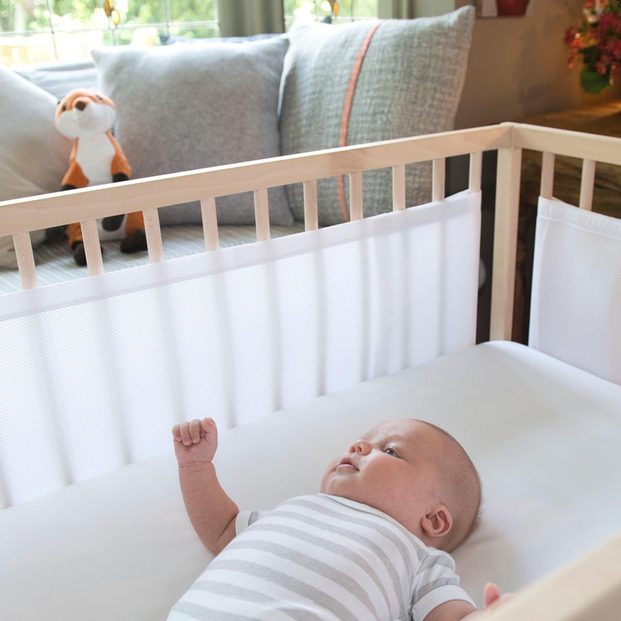 The Little Linen Airwrap Breathable Mesh 4 Side Bumper - White