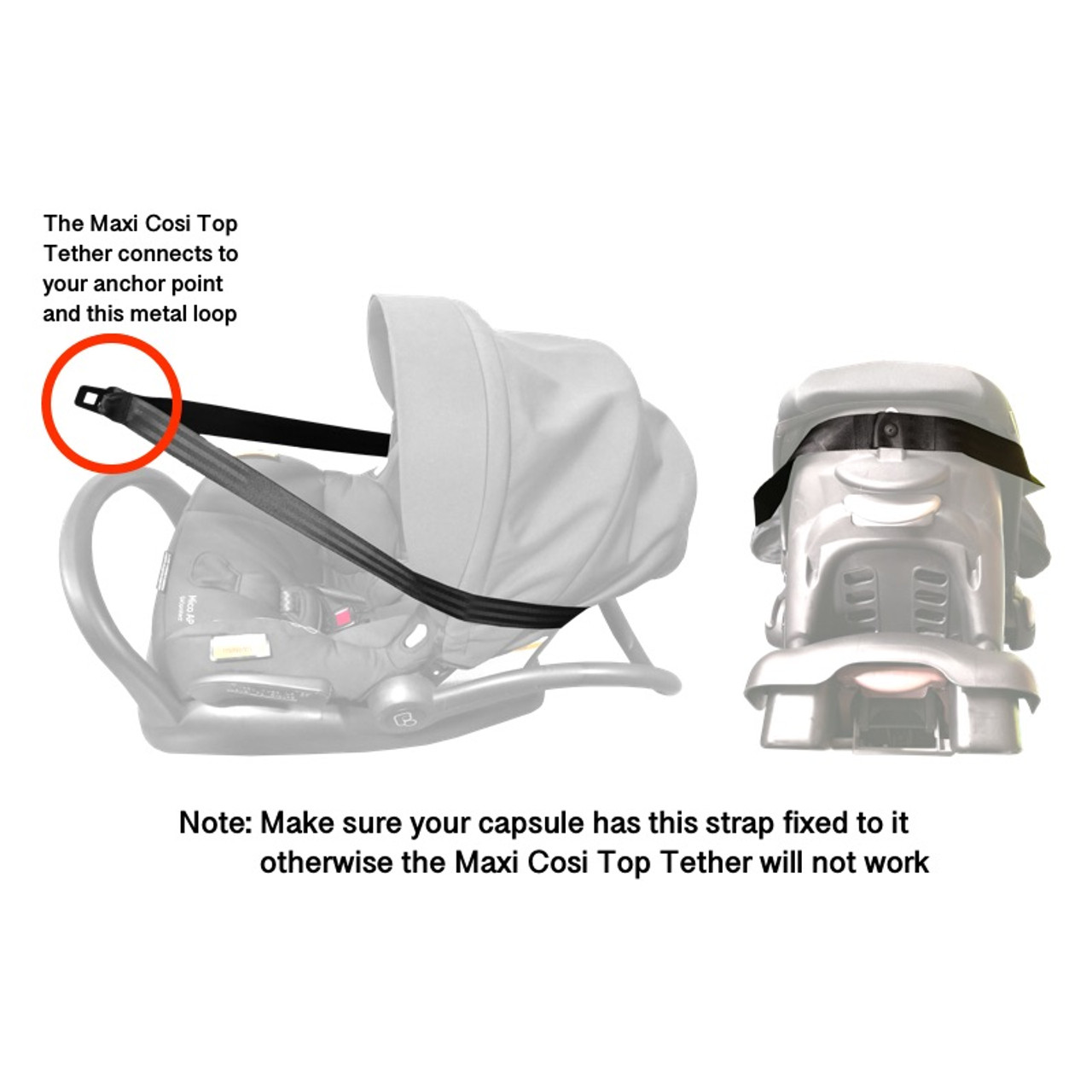 Maxi Cosi Adjustable Top Tether Strap