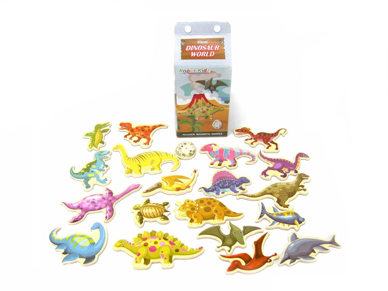 Kaper Kidz Milk Carton Wooden Magnetic Dinosaur