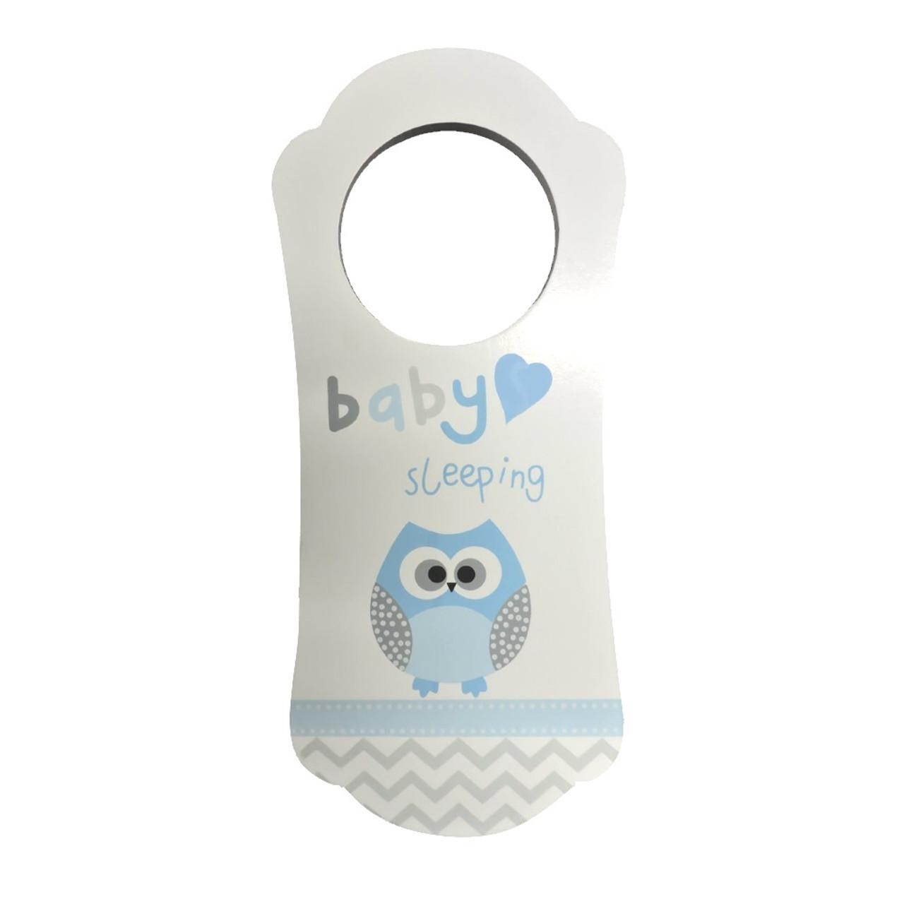 Owl Baby Sleeping Sign Wooden Door Hanger