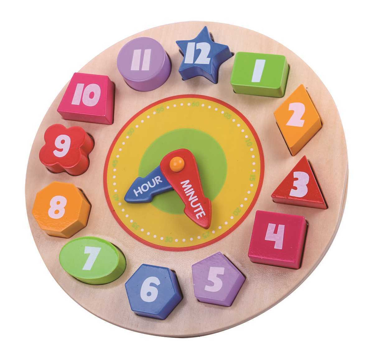 Tooky Toy Wooden Clock Puzzle