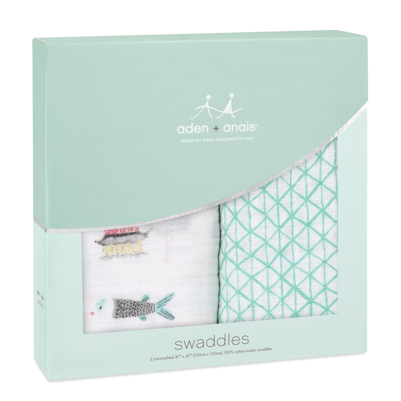 Aden + Anais Muslin Classic Swaddle Set 2 Pack Around the World