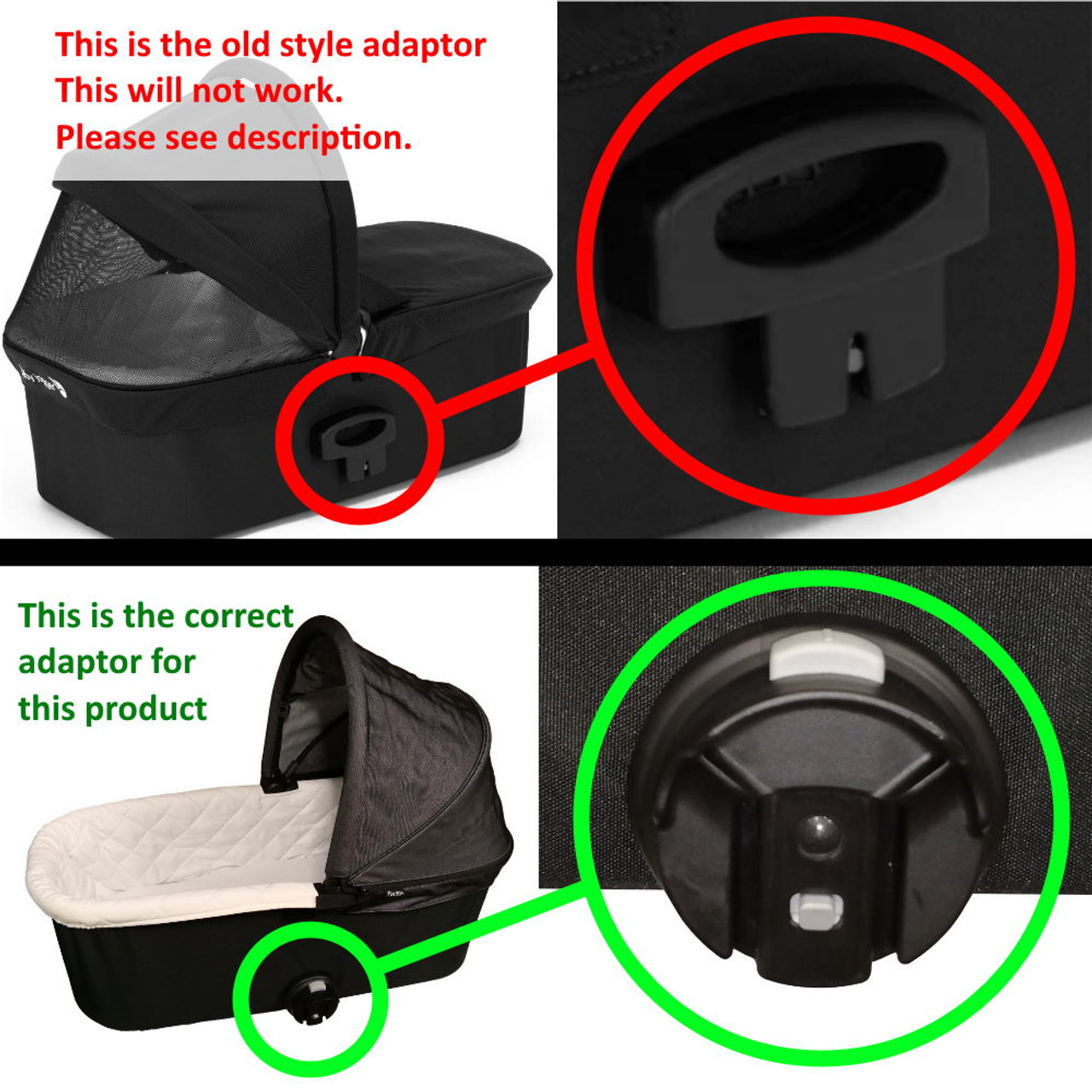 Baby Jogger Deluxe Bassinet Adaptor to City Mini, City ...