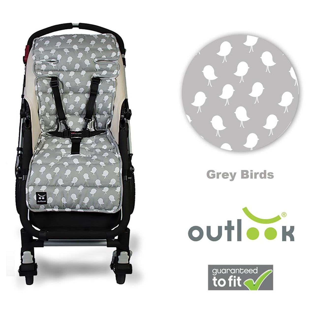Outlook Pram Liner - GREY BIRDS