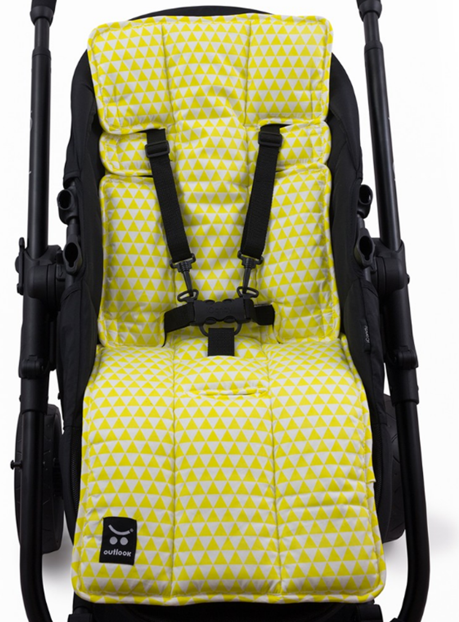 Outlook Pram Liner - YELLOW TRIANGLE