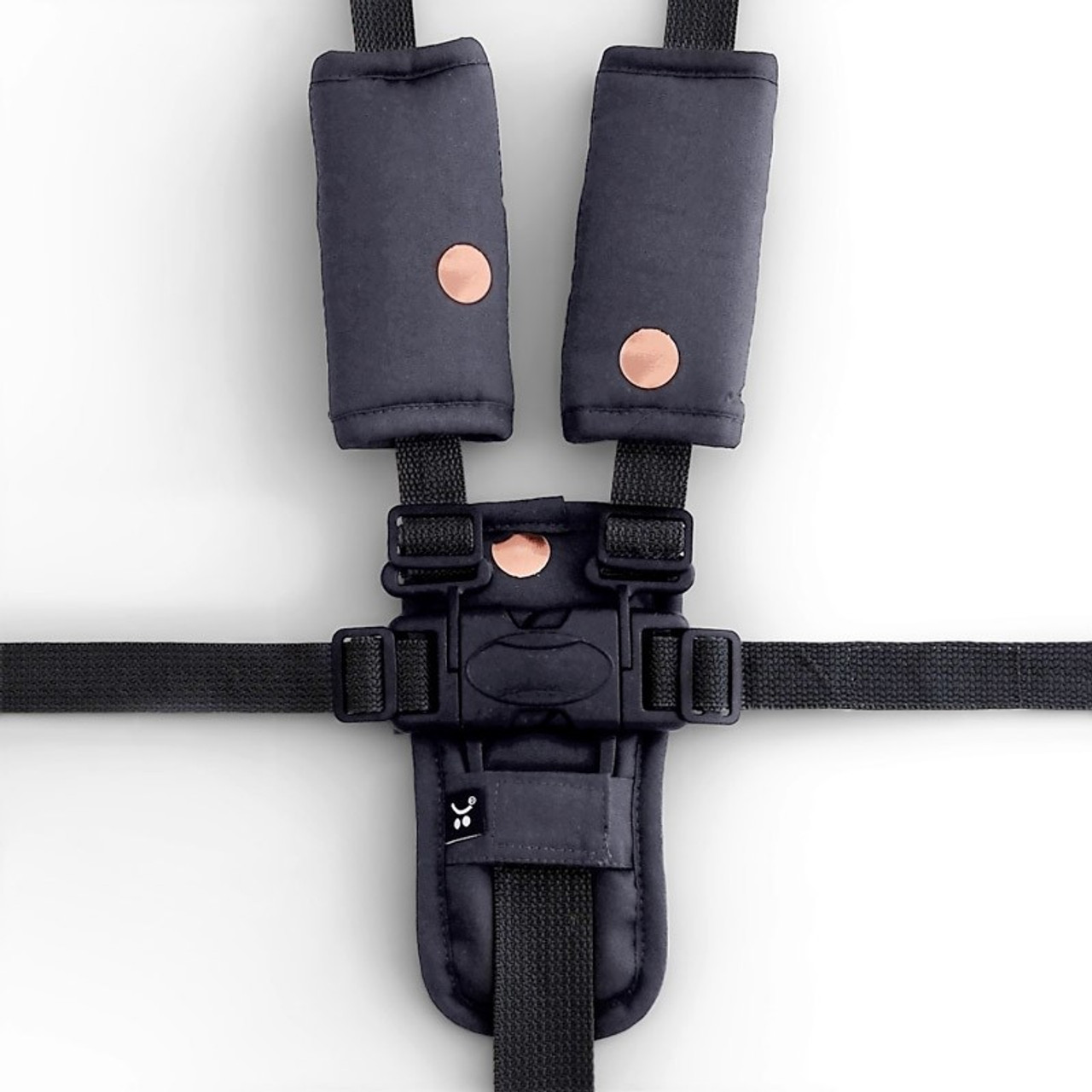 Outlook Get Foiled Pram Harness Cover Set - CHARCOAL
