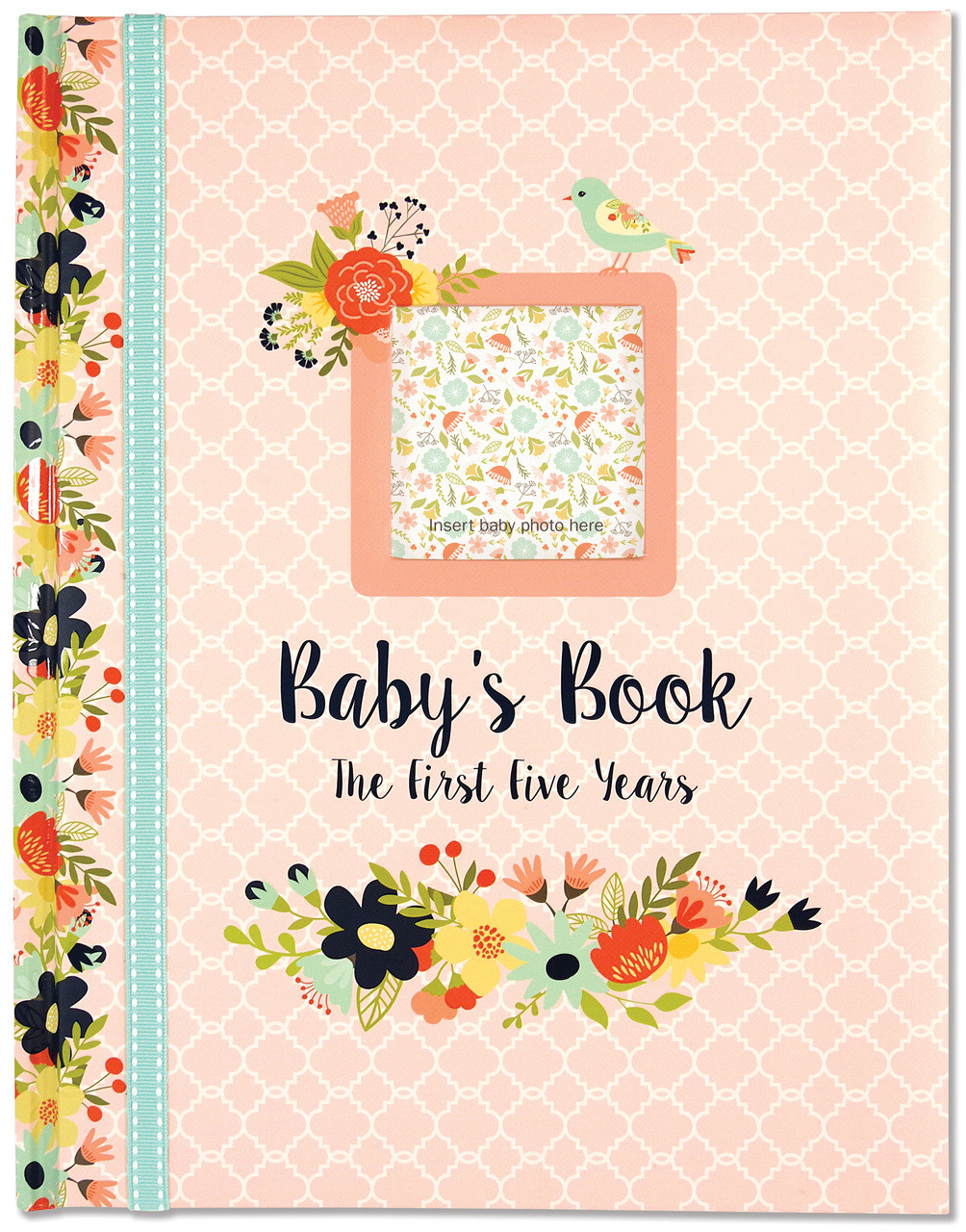 Baby Milestone Book Floral: The First 5 Years