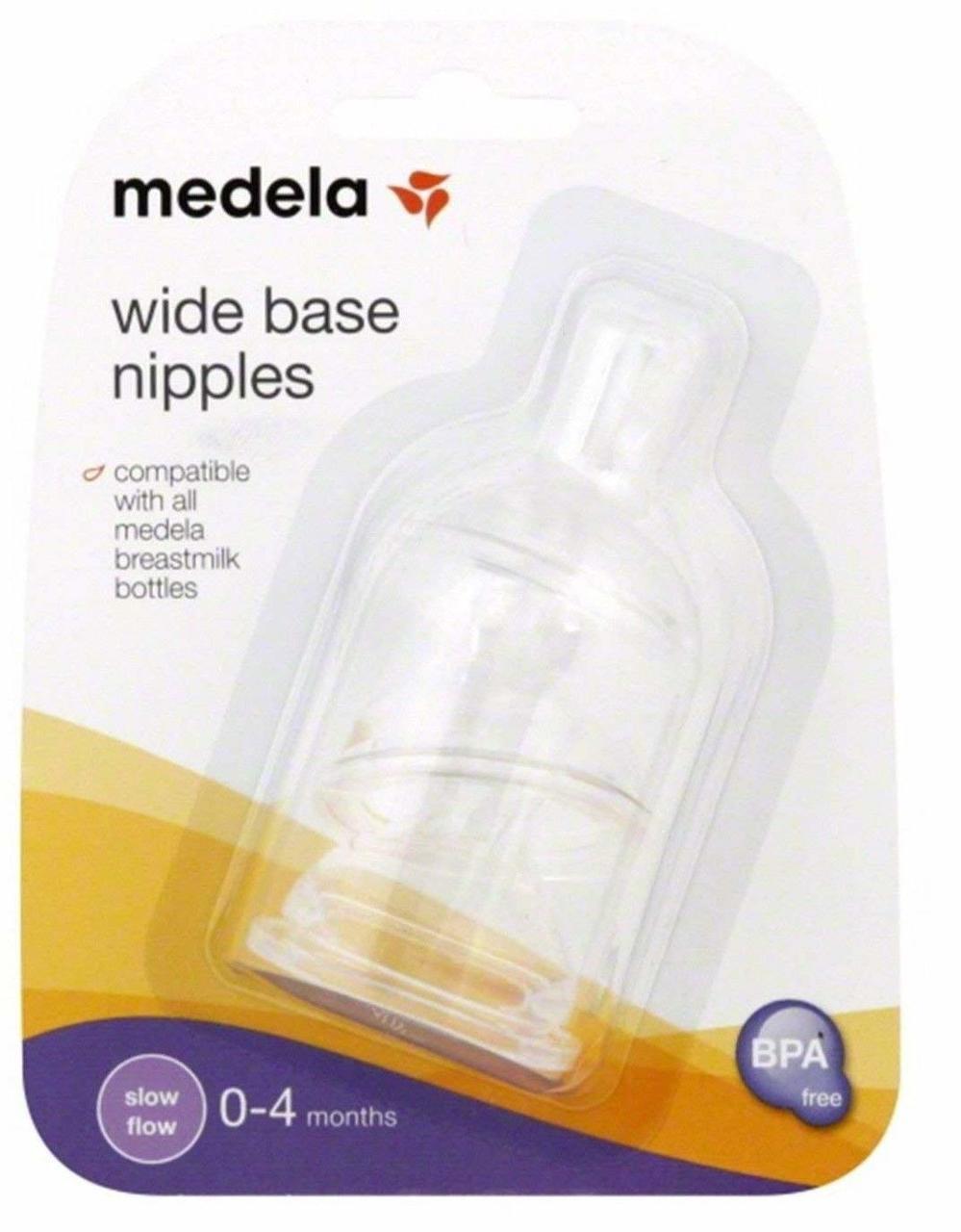 3 Pk Medela Wide Base Nipple Slow Flow by Medela