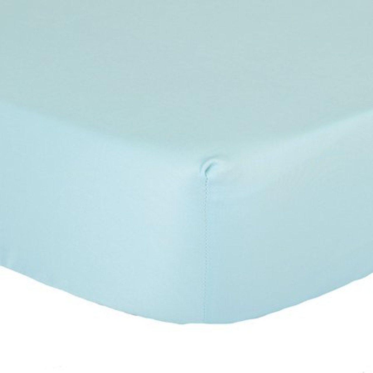 The Peanutshell Cot Solid Fitted Sheet - LIGHT BLUE