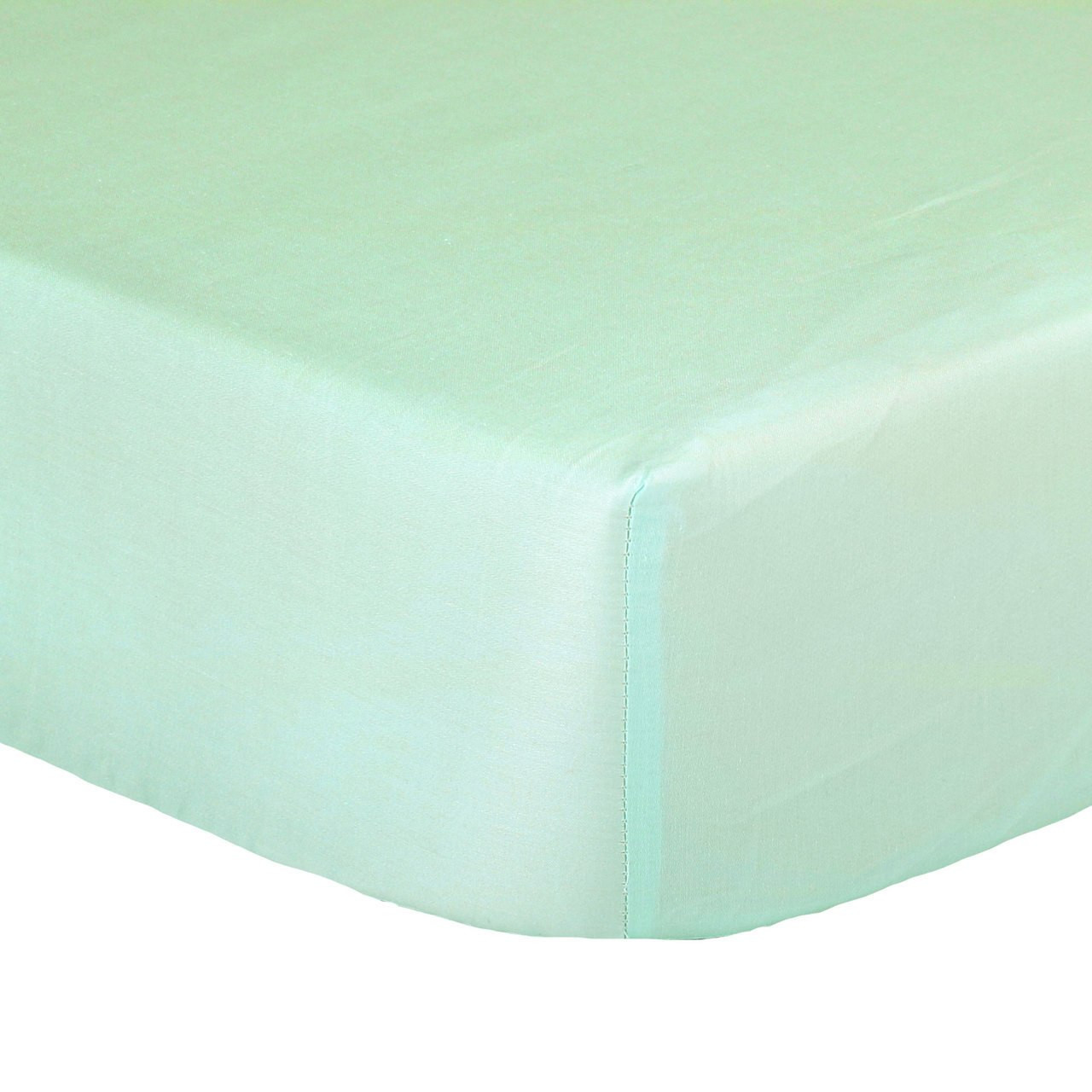 The Peanutshell Cot Solid Fitted Sheet - MINT