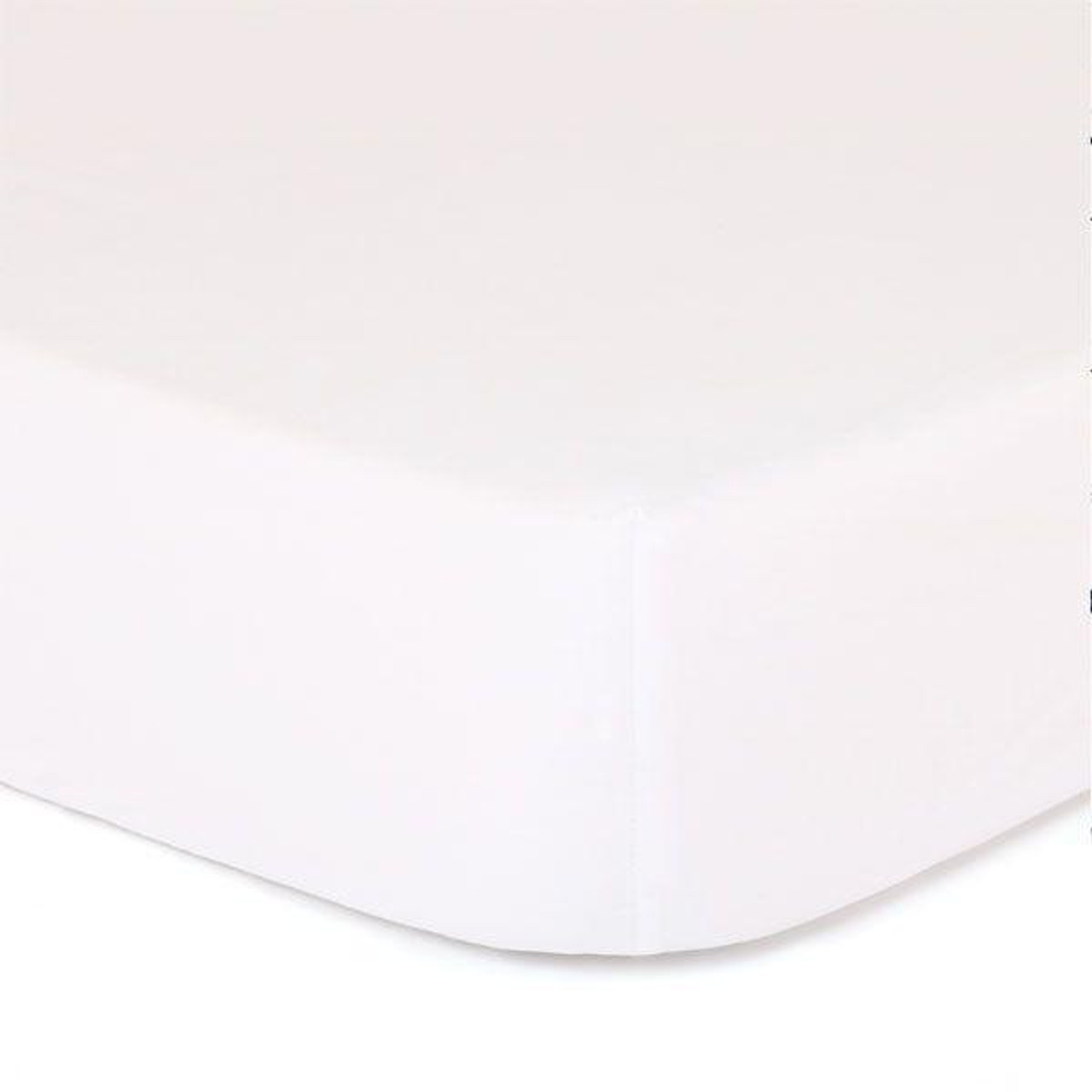 The Peanutshell Cot Solid Fitted Sheet - WHITE